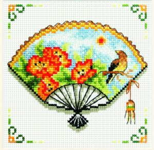 SUMMER COMES Precise Stamped Cross Stitch Kit No Count NEEDLEART WORLD