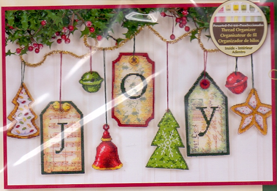 Dimensions Counted Cross Stitch Christmas Ornament Kit JOY TAG ORNAMENTS