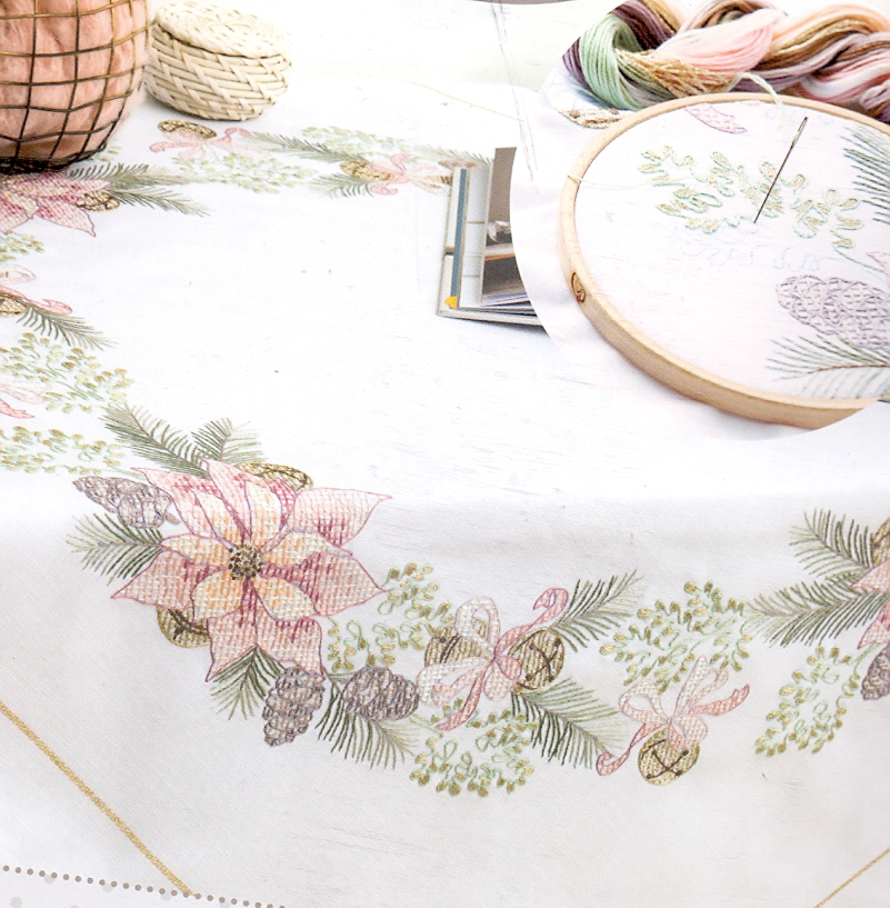 Cross Stitch Rico Table Cloths